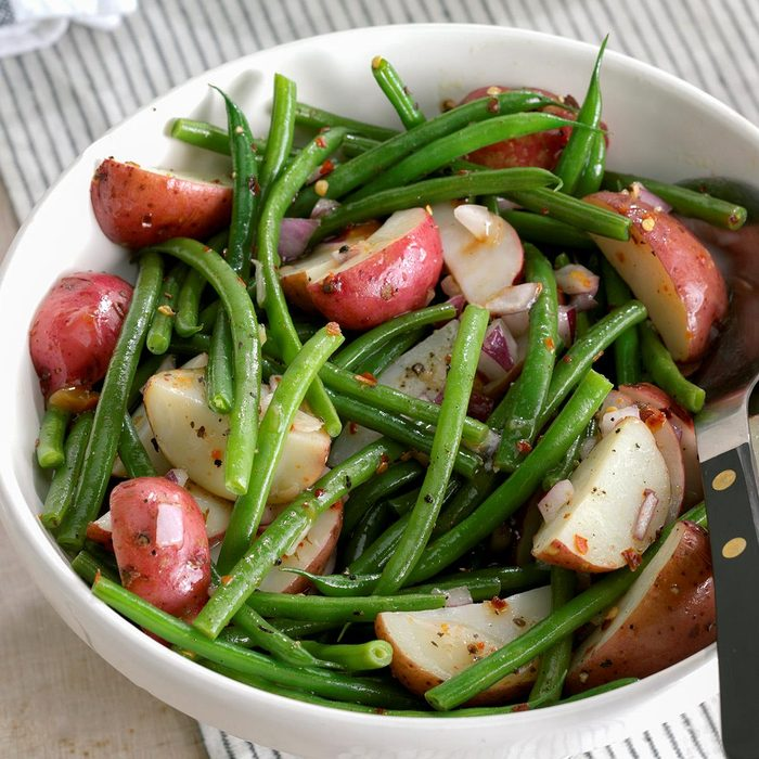 Red Potatoes with Beans