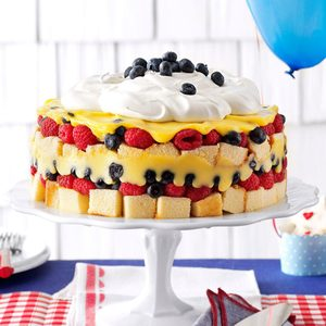 Red, White & Blue Berry Trifle