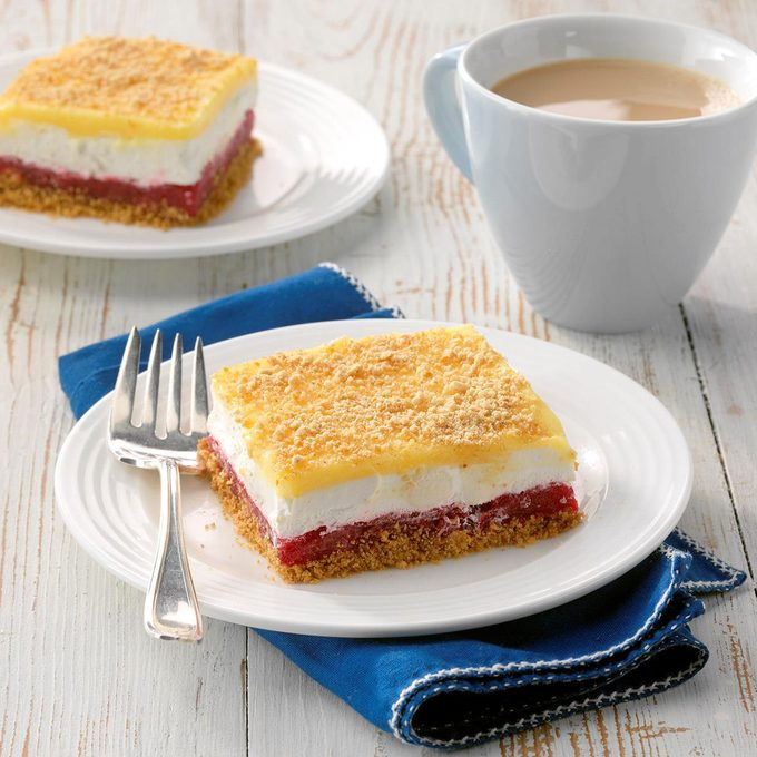 Rhubarb Icebox Dessert