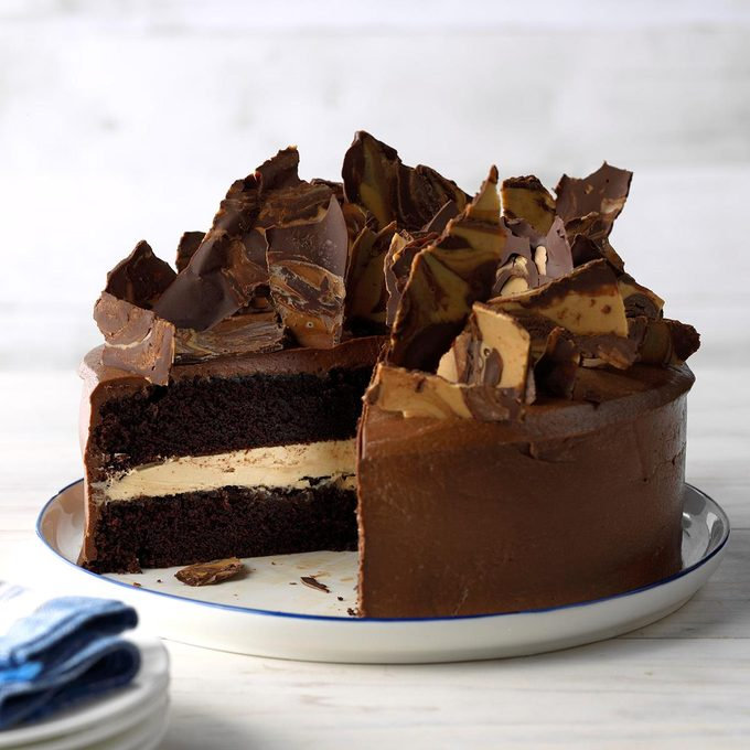 Top the Cake with Shards of Chocolate