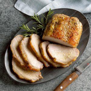 Roast Pork Loin with Rosemary Applesauce