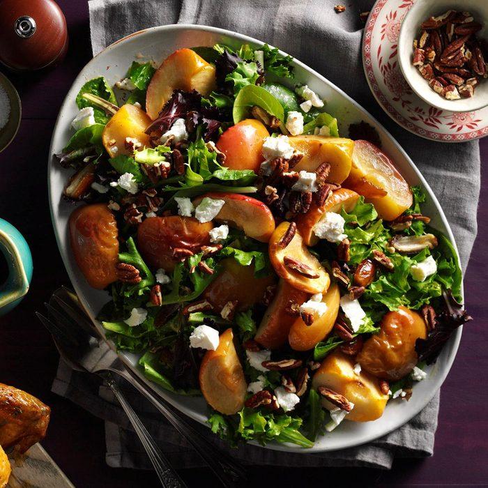 Roasted Apple Salad with Spicy Maple-Cider Vinaigrette