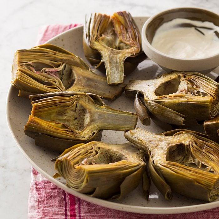 Roasted Artichokes With Lemon Aioli Exps Sdam18 214588 C12 05 8b 2