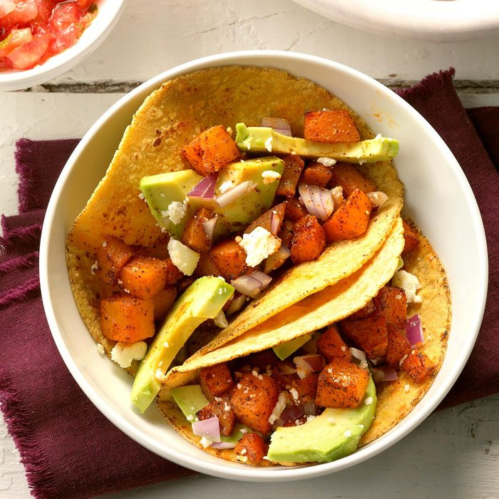 Day 4 Dinner: Roasted Butternut Squash Tacos