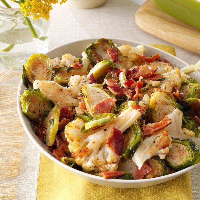 Roasted Cauliflower Brussels Sprouts With Bacon Exps89821 Sd132779c06 11 4bc Rms