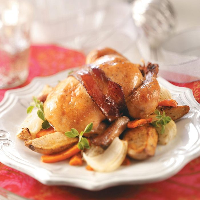 Roasted Cornish Hens with Vegetables