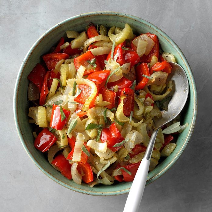Roasted Fennel and Peppers