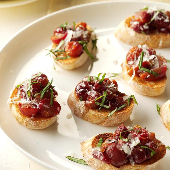 Roasted Grape Crostini