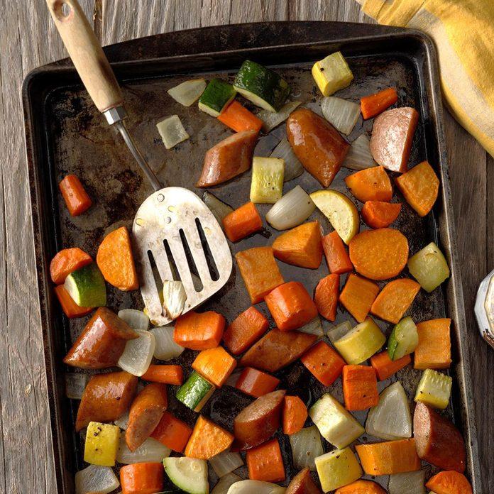 September: Roasted Kielbasa & Vegetables