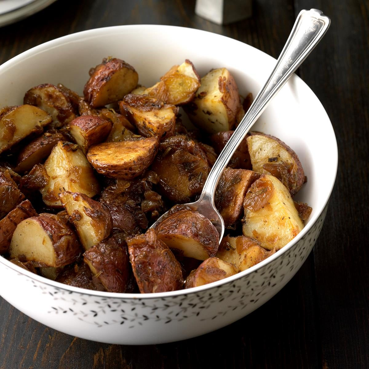 Vegan Rosemary Potatoes with Caramelized Onions