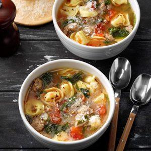 Rustic Italian Tortellini Soup