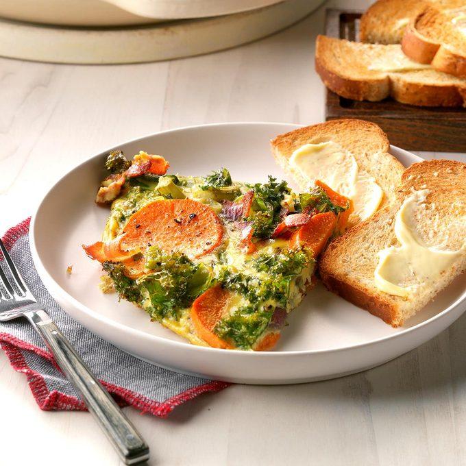 Sunday's Breakfast: Rustic Vegetable Frittata