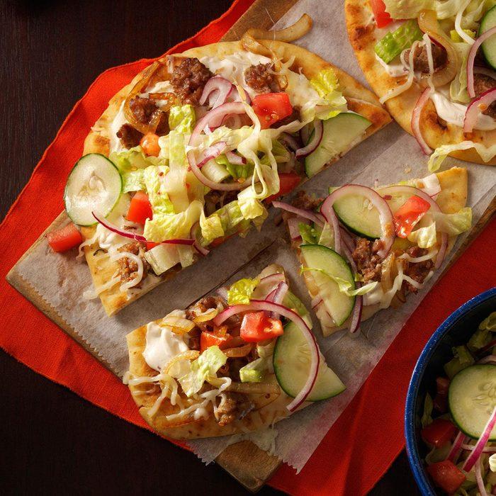 Salad-Topped Flatbread Pizzas