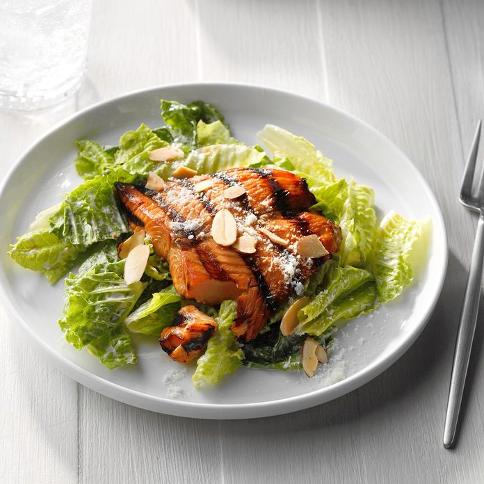 Inspired by: P.F. Chang's Asian Caesar Salad with Salmon