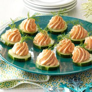 Salmon Mousse Canapes