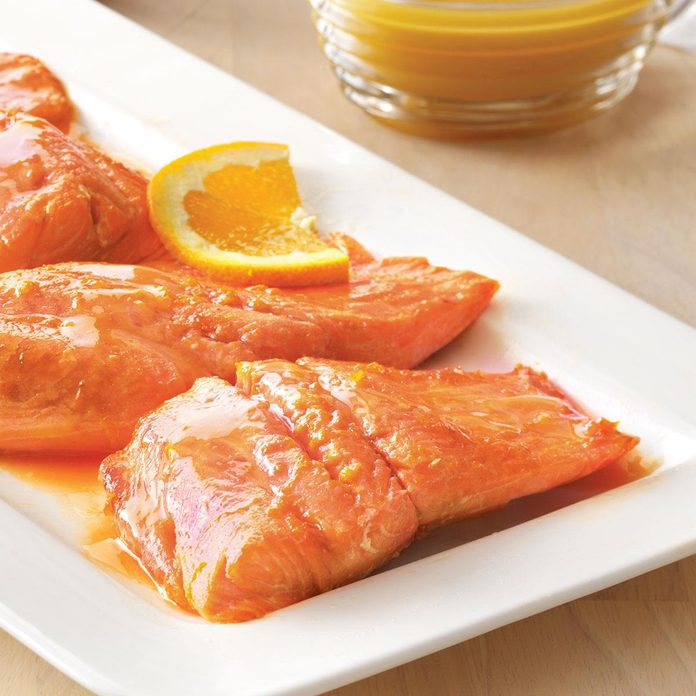 Salmon with Balsamic Orange Sauce