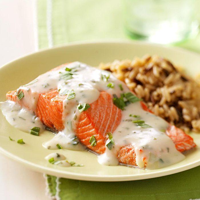 Salmon with Tarragon Sauce