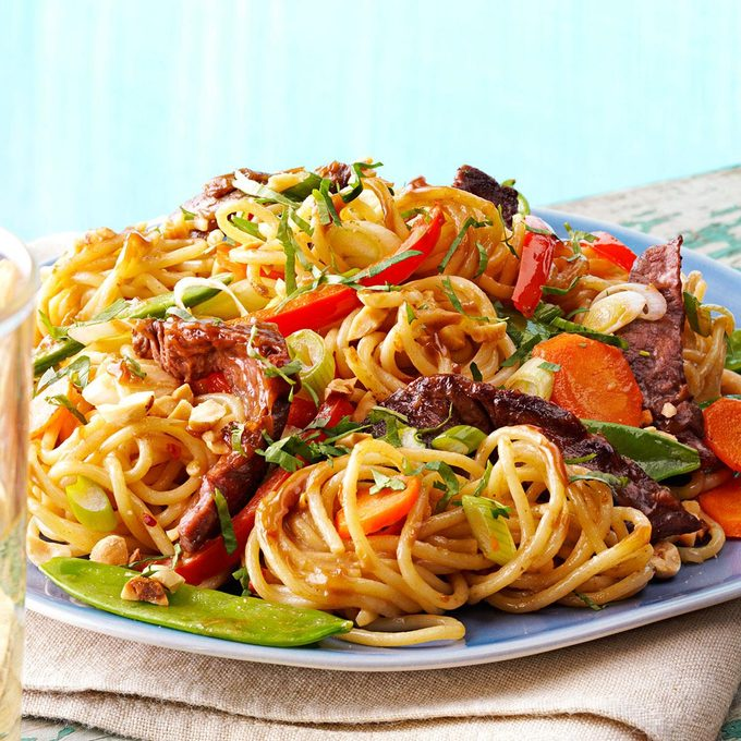 Saucy Thai Beef Noodles