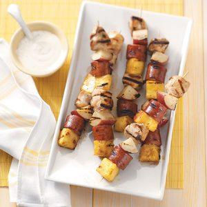 Sausage & Chicken Kabobs