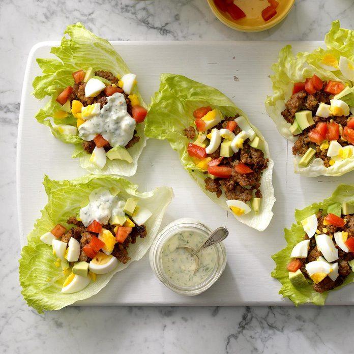 Day 8: Sausage Cobb Salad Lettuce Wraps