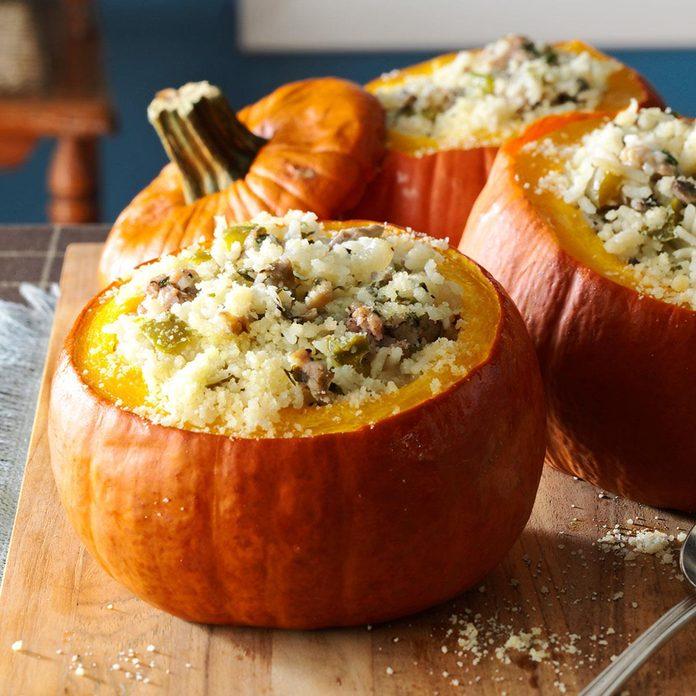 Sausage & Rice Stuffed Pumpkins