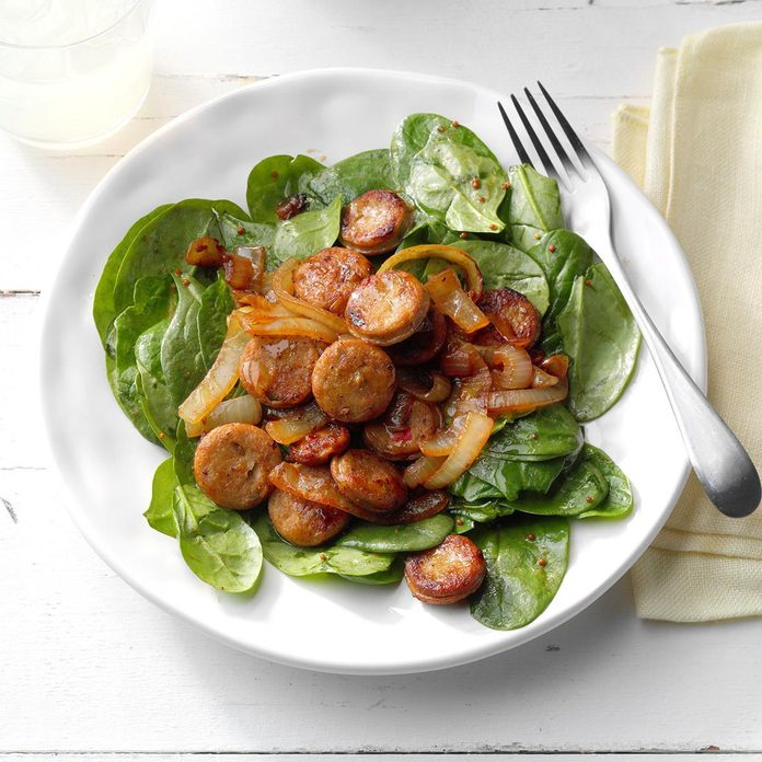 July 13: Sausage Spinach Salad
