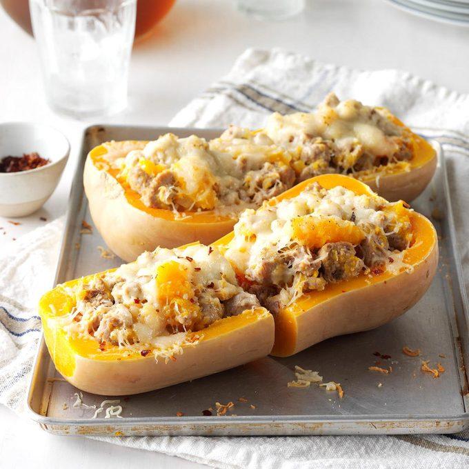 Sausage Stuffed Butternut Squash Exps Sdfm17 177890 C10 07 1b 2