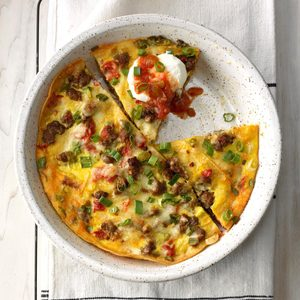 Sausage Tortilla Breakfast Bake