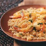 Sauteed Orange Shrimp with Rice