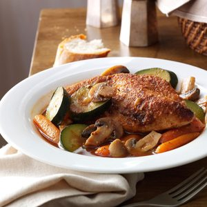 Savory Braised Chicken with Vegetables