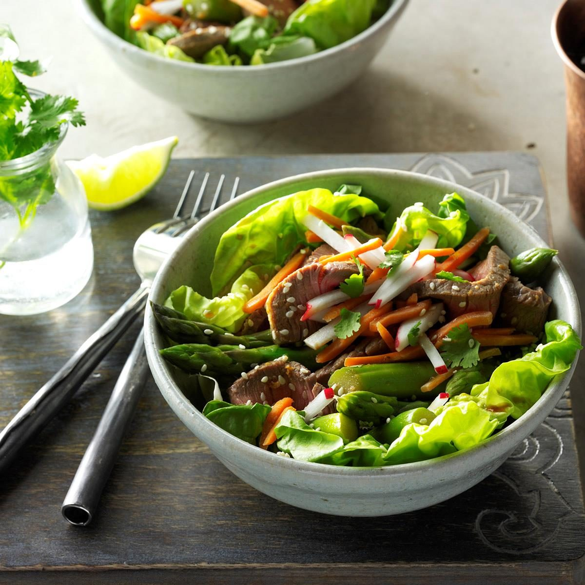 Washington: Sesame Beef & Asparagus Salad