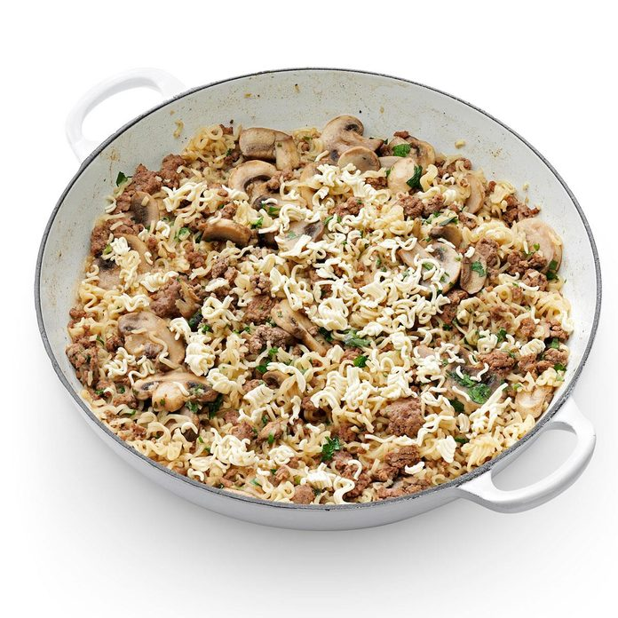Sesame Beef and Mushroom Noodles
