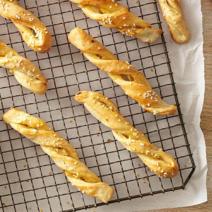 Sesame Onion Breadsticks