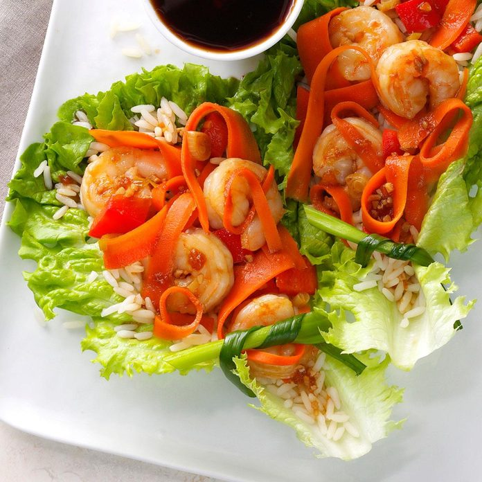 Inspired by: Crispy Shrimp Lettuce Wraps