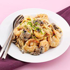 Shrimp Linguine with Parmesan Cream Sauce