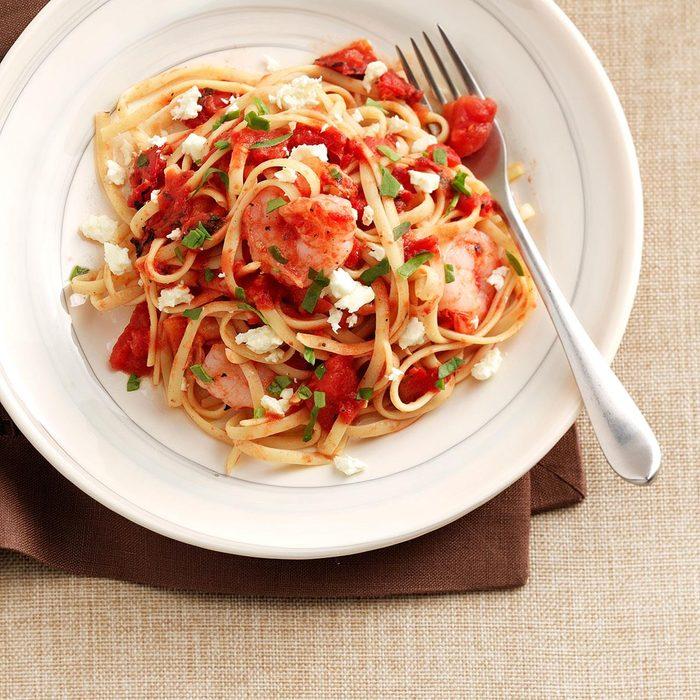 Shrimp & Tomato Linguine Toss