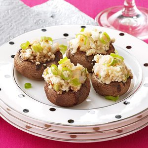 Shrimp and Goat Cheese Stuffed Mushrooms