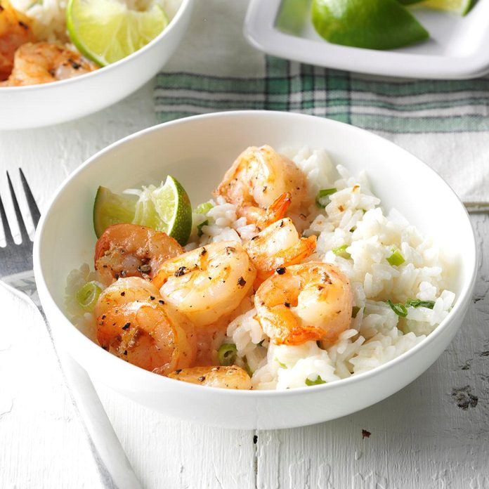 Day 6: Shrimp with Coconut Rice