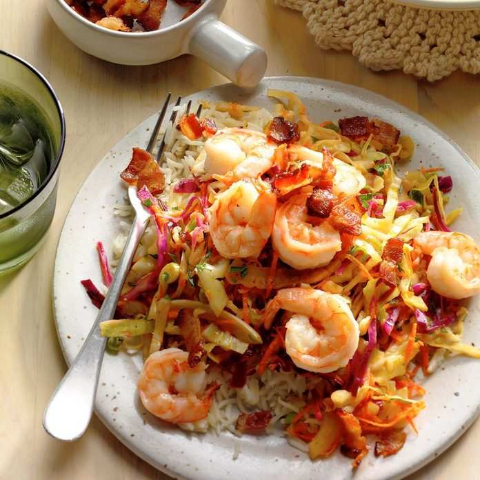 Shrimp With Warm German Style Coleslaw  Exps Thn17 204062 B06 21 3b 3