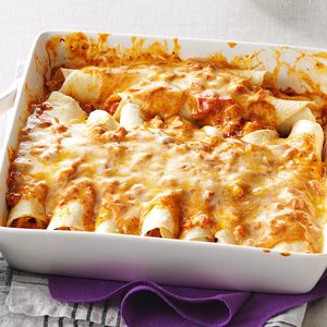 Simple Creamy Chicken Enchiladas