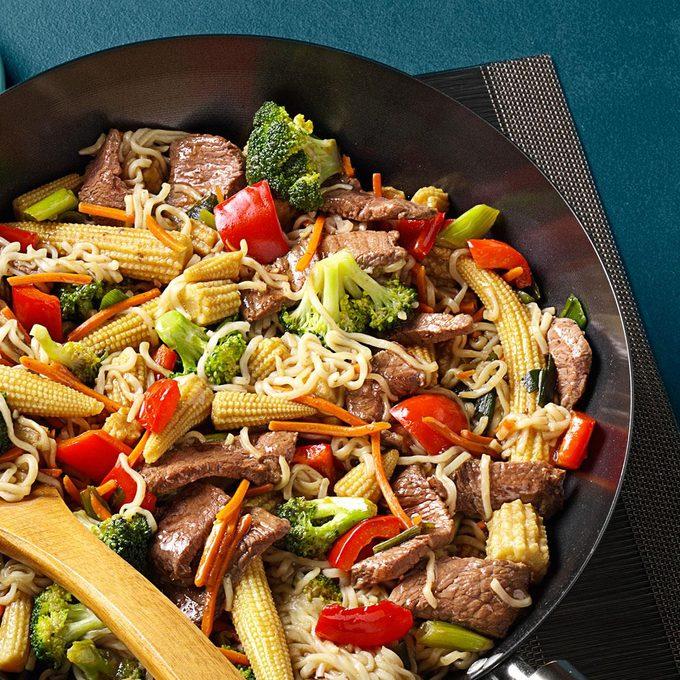 Sirloin Stir-Fry with Ramen Noodles