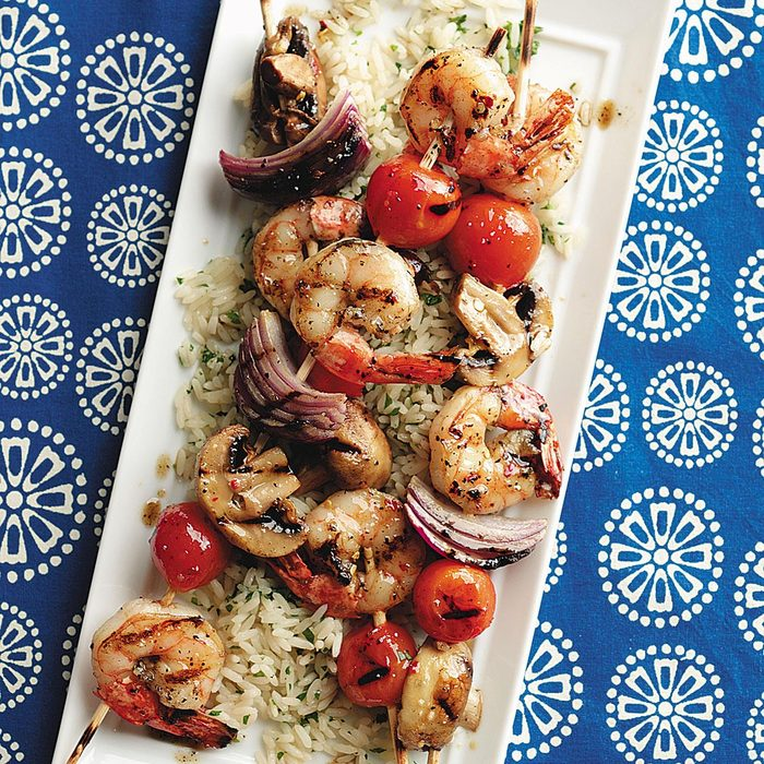 Skewered Shrimp & Vegetables