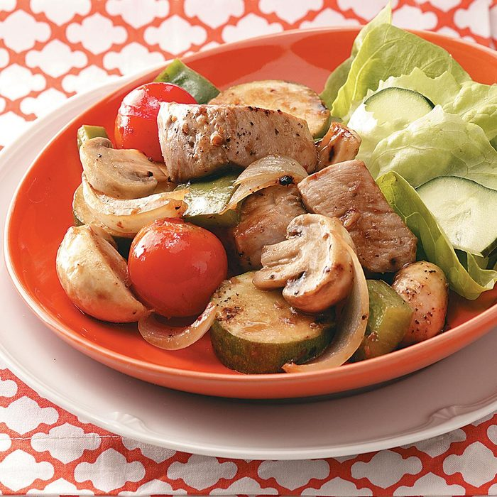 Skewerless Stovetop Kabobs for Two