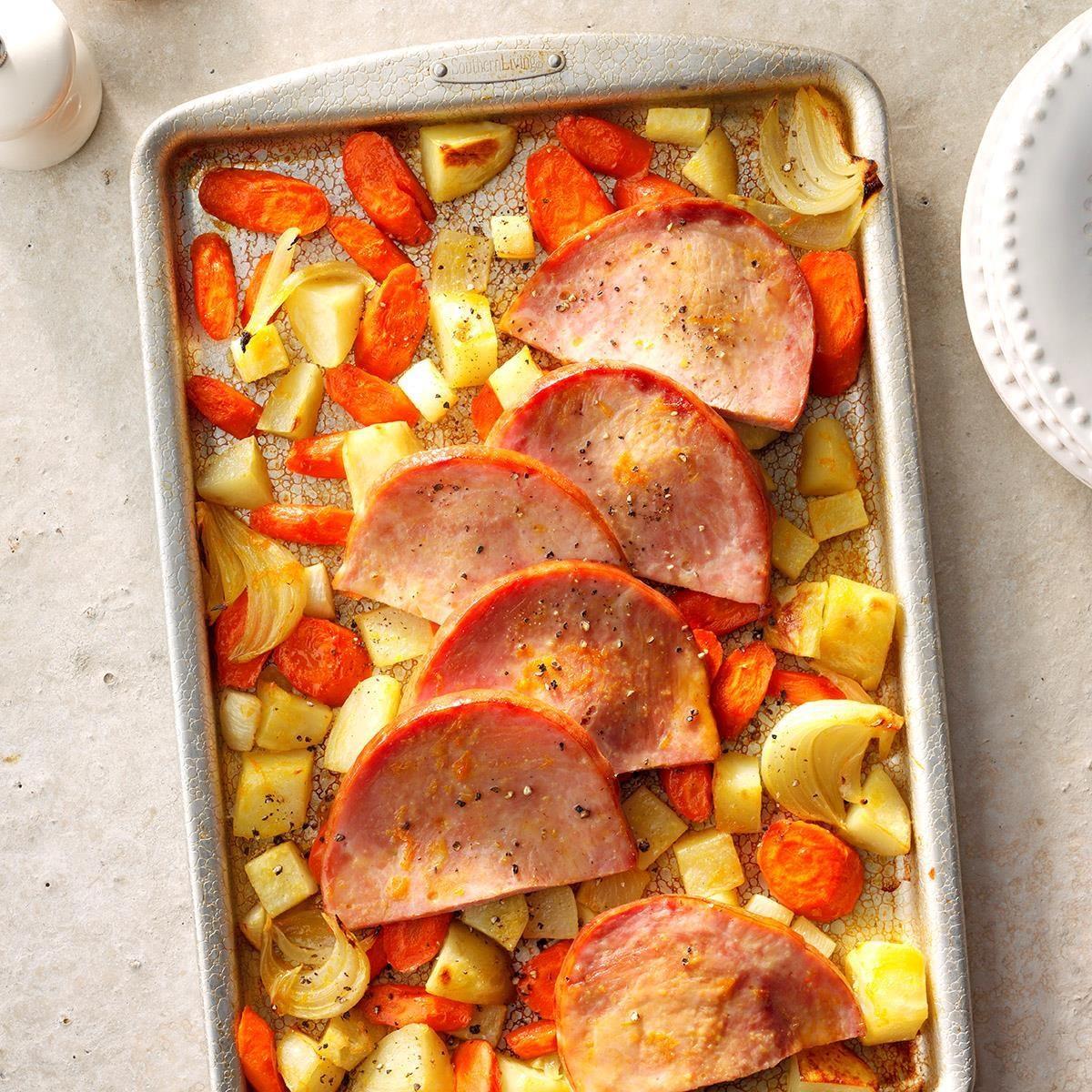 Sunday: Sliced Ham with Roasted Vegetables