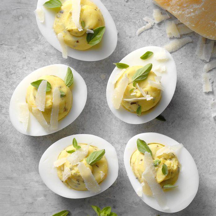 Slim Italian Deviled Eggs