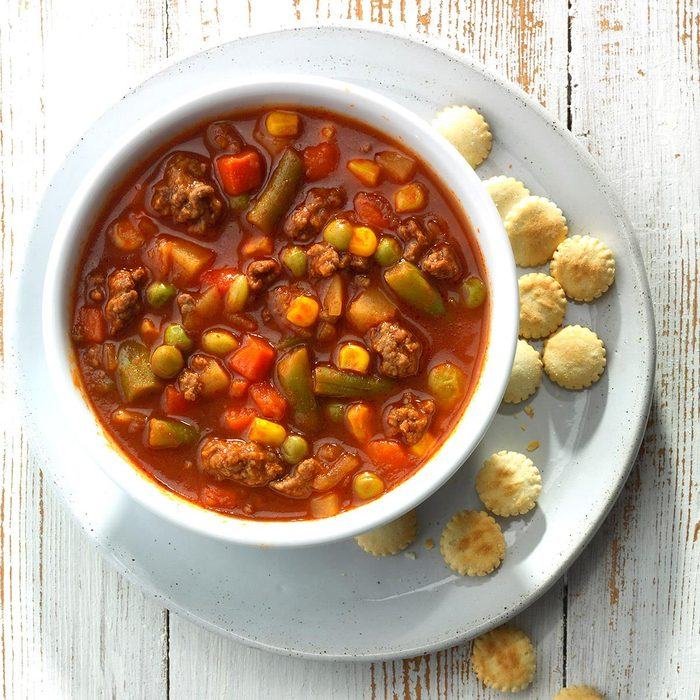 Slow-Cooked Beef Vegetable Soup