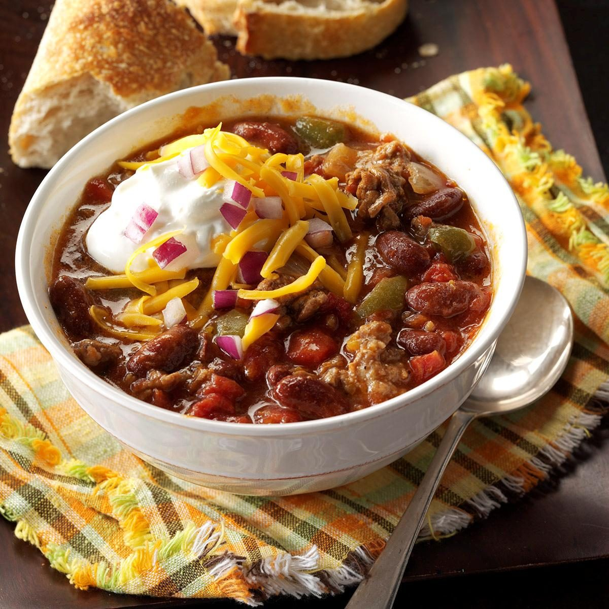 Saturday: Slow-Cooked Chunky Chili