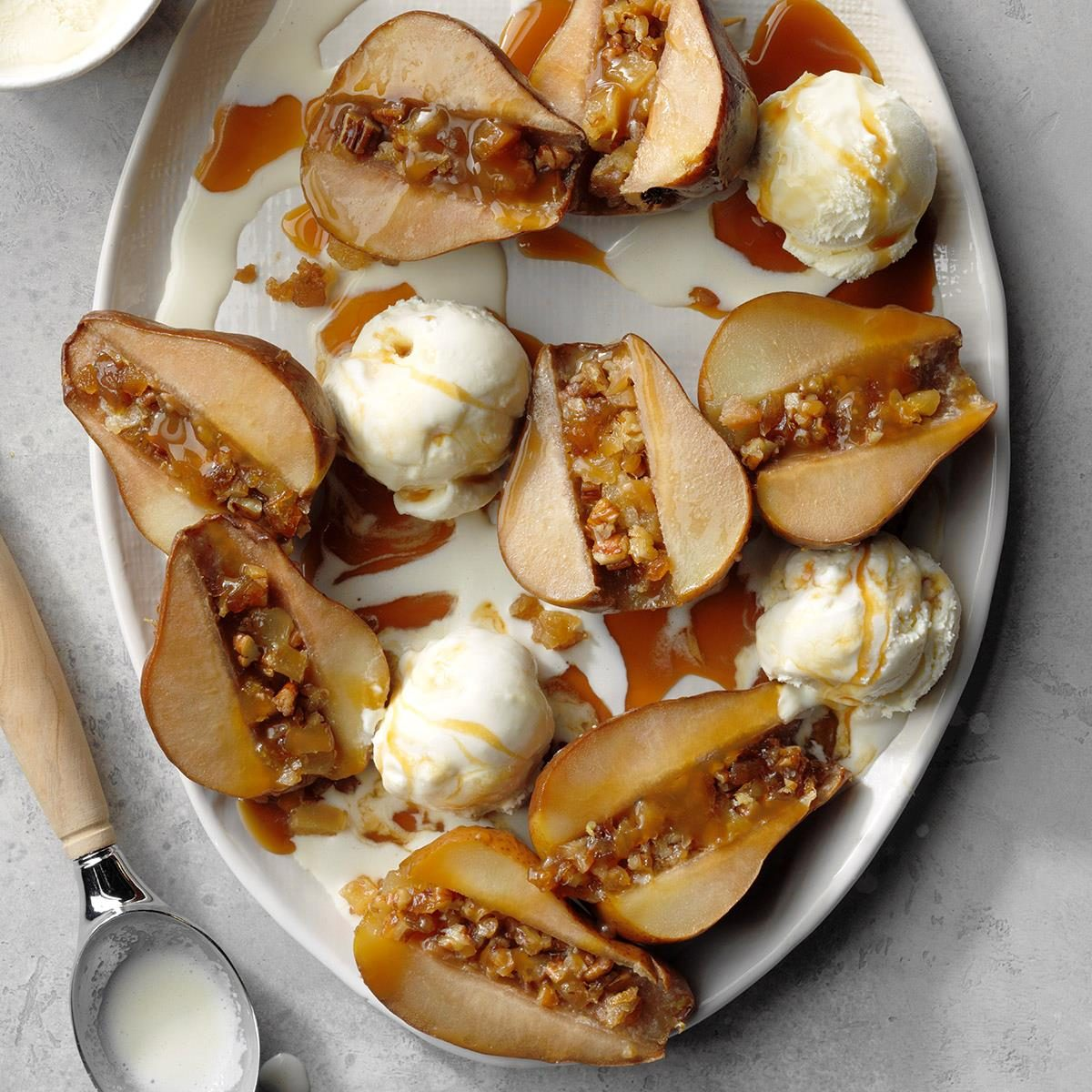 Day 20: Slow-Cooked Gingered Pears