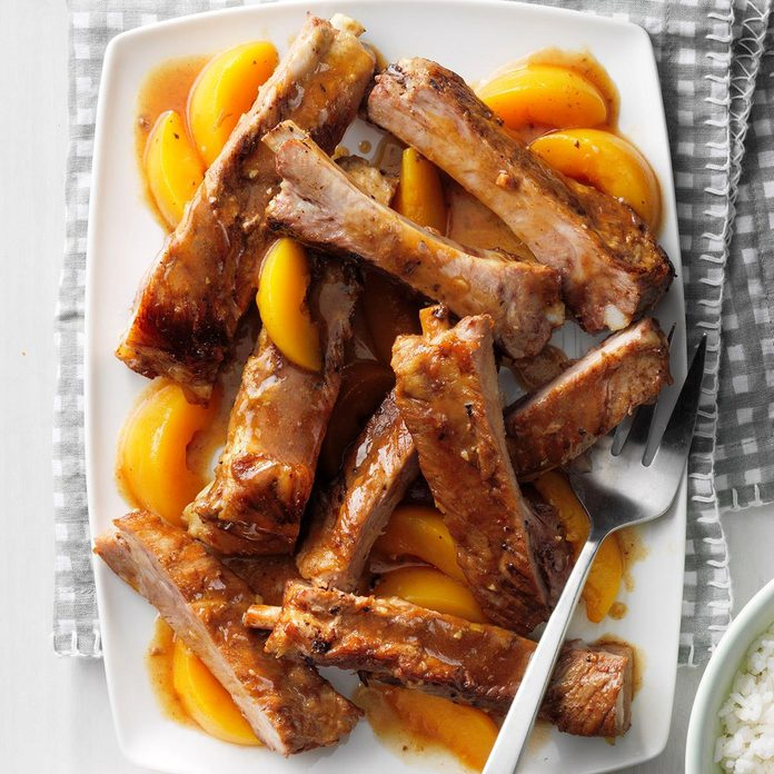 Slow-Cooked Peachy Spareribs