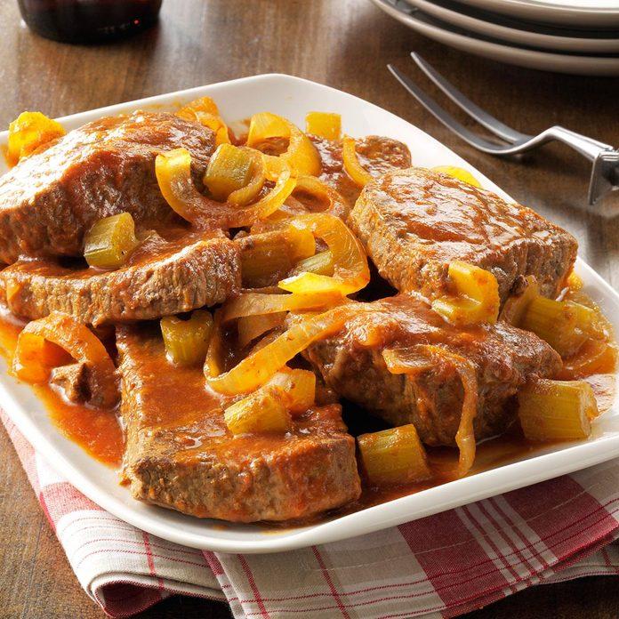 February: Slow-Cooked Swiss Steak